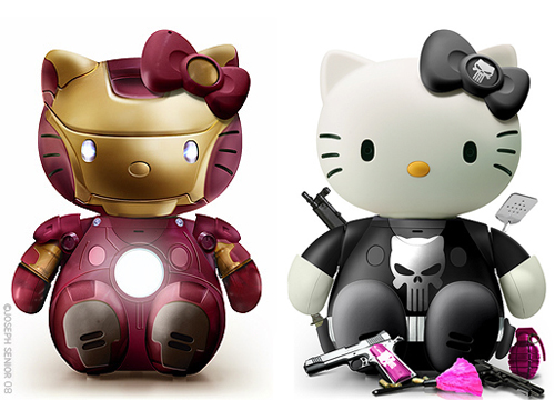 hello kitty iron man punisher